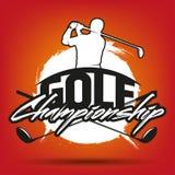 Vintage golf label Stock Image