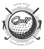 Vintage Golf Logotype Stock Photography