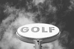 Vintage golf sign Royalty Free Stock Photography