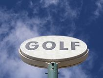Vintage golf sign Royalty Free Stock Photos