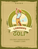 Vintage golf tournament vector poster Royalty Free Stock Photos