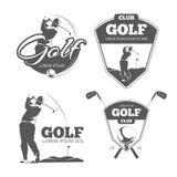 Vintage golf vector labels, badges and emblems Stock Image