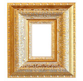 Vintage gold wood frame Stock Images