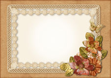 Vintage gorgeous background with lace-frame Royalty Free Stock Photos