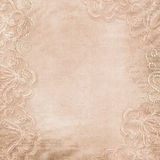 Vintage gorgeous  background with lace and pearls Royalty Free Stock Image