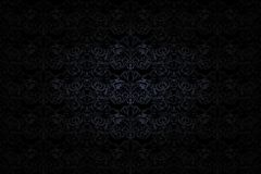 Vintage Gothic background in dark grey and black. With classic Baroque pattern, Rococo with darkened edges, vector Eps 10 stock illustration