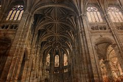 Vintage Gothic cathedral of Paris - retro style Royalty Free Stock Image
