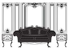 Vintage Gothic style furniture set Stock Image