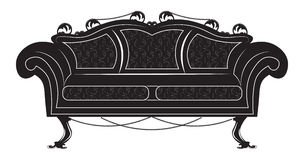 Vintage Gothic style sofa furniture. Vector hermitage decor collection Stock Images