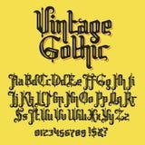 Vintage gothic typeface. Decorative Vintage gothic typeface. Stock lettering illustration royalty free illustration