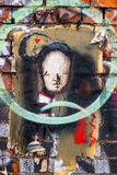 Vintage graffiti wall art, London UK Royalty Free Stock Images