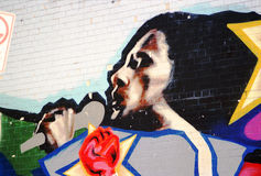 Vintage graffitis - New York Royalty Free Stock Image