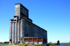 Vintage Grain Elevator And Silos In Buffalo New York Royalty Free Stock Photography