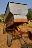 Hydraulic lift onan old grain wagon Royalty Free Stock Photo