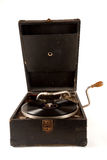 Vintage gramophone. With a 78 rpm vinyl record on Royalty Free Stock Image