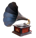 Vintage gramophone. Isolated. Clipping path included Royalty Free Stock Photos