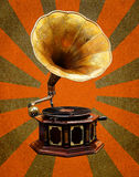 Vintage Gramophone  abstract sun rays Stock Photos