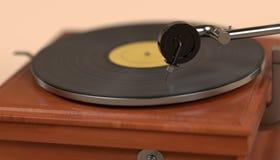 Vintage gramophone. 3d render of vintage gramophone Royalty Free Stock Image