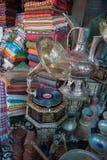 Vintage gramophone with eastern ornament for sale at Jaffa Flea Market. (Shuk Hapishpishim) at Tel Aviv stock photos