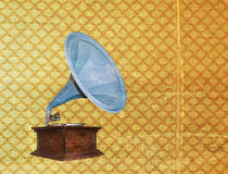 Vintage gramophone - grungy Stock Photo