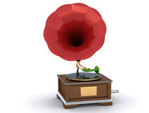 Vintage gramophone isolated Stock Photography