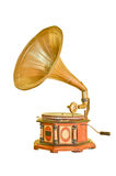 Vintage gramophone isolated on white Royalty Free Stock Photos