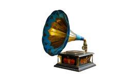 Vintage gramophone. Isolated on white Royalty Free Stock Image