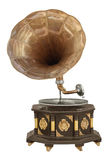Vintage gramophone. Ornate phonograph isolate on white royalty free stock photography