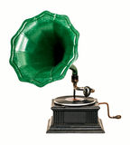 Vintage gramophone record player Royalty Free Stock Photos