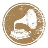 Vintage gramophone sign Stock Image
