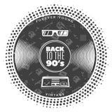 Vintage Gramophone Vinyl Record Template Royalty Free Stock Photo