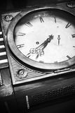 Vintage grandfather clock, black and white Stock Photos