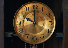 Vintage grandfather clock clockface Stock Photos