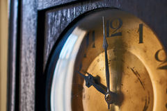 Vintage grandfather clock clockface Royalty Free Stock Images