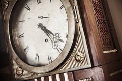 Vintage grandfather clock Royalty Free Stock Photo