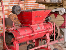Vintage grape crusher Royalty Free Stock Photo
