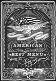 Vintage Graphic Blackboard for American Menu Royalty Free Stock Photo