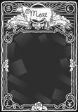 Vintage Graphic Blackboard for Meat Menu. Detailed illustration of a Vintage Graphic Blackboard for Meat Menu Stock Photography