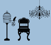 Vintage Graphic Design Elements Home Related Royalty Free Stock Image