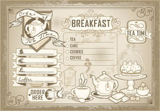 Vintage graphic element for bar menu Stock Photography