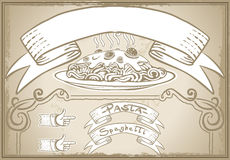 Vintage graphic element for first course menu Royalty Free Stock Images