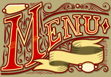 Vintage graphic element for menu. Detailed illustration of a vintage graphic element for menu Royalty Free Stock Photos