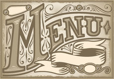 Vintage graphic element for menu Royalty Free Stock Image