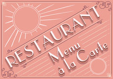 Vintage graphic element for restaurant menu Royalty Free Stock Image