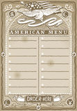 Vintage Graphic Page for American Menu Royalty Free Stock Photo