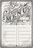 Vintage Graphic Page Menu for Restaurant Royalty Free Stock Images