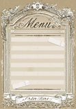 Vintage Graphic Page for Restaurant Menu Royalty Free Stock Photo
