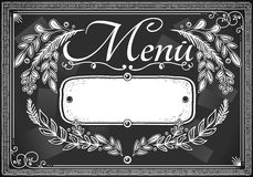 Vintage graphic place card menu for bar or restaurant Stock Image