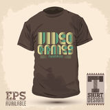 Vintage Graphic T-shirt design. Video games champion lettering - eps 8 available Royalty Free Stock Photos