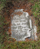 Vintage grave tombstone Royalty Free Stock Photography